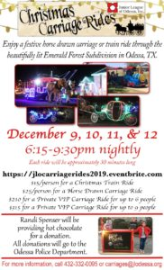 Christmas Carriage Rides Flyer